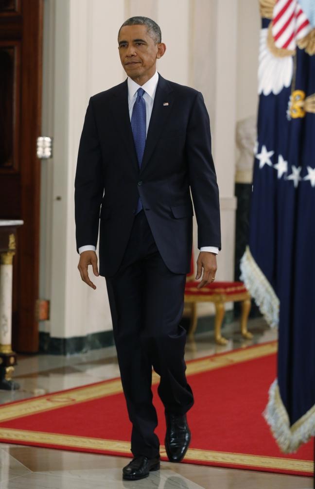 President Obama Walking Tall